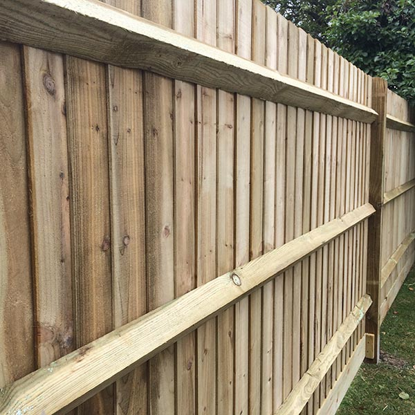 Closeboard Fencing Kit With Arris Rails 3 00m W X 1 80m H