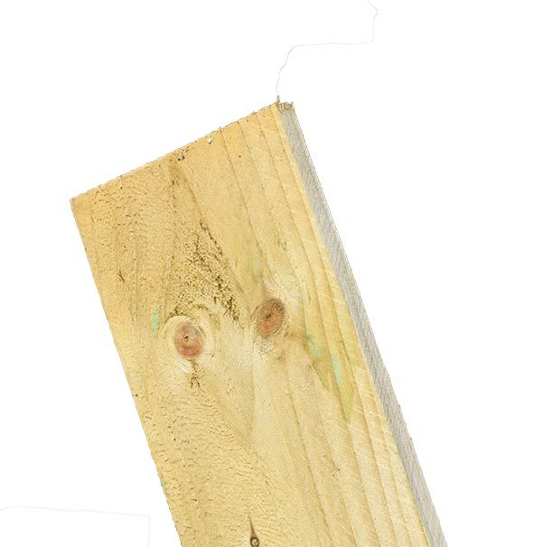 Green (Light) Feather Edge Board 1.80m-Ex 125mm x 22mm