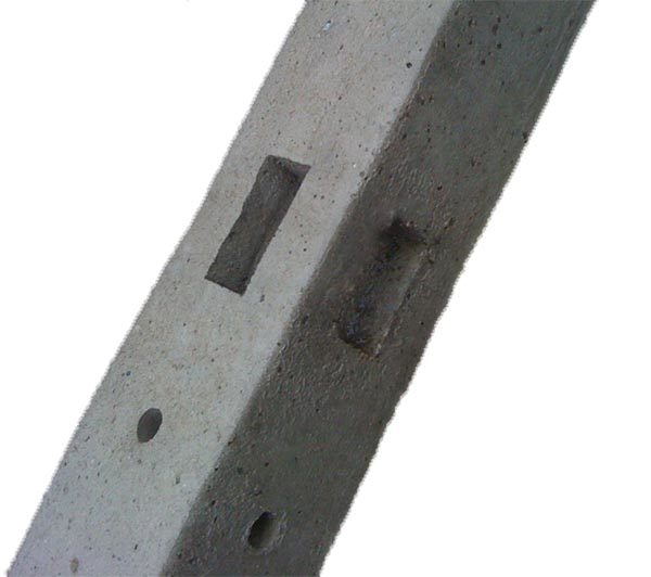Morticed (concrete) Corner Post-2.44m in Grey