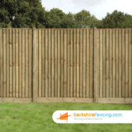Close Board Fence Panel (3) 90cm H x 183cm W Brown