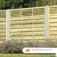 Elite Slatted Top Fence Panel (4) 90cm H x 180cm W brown