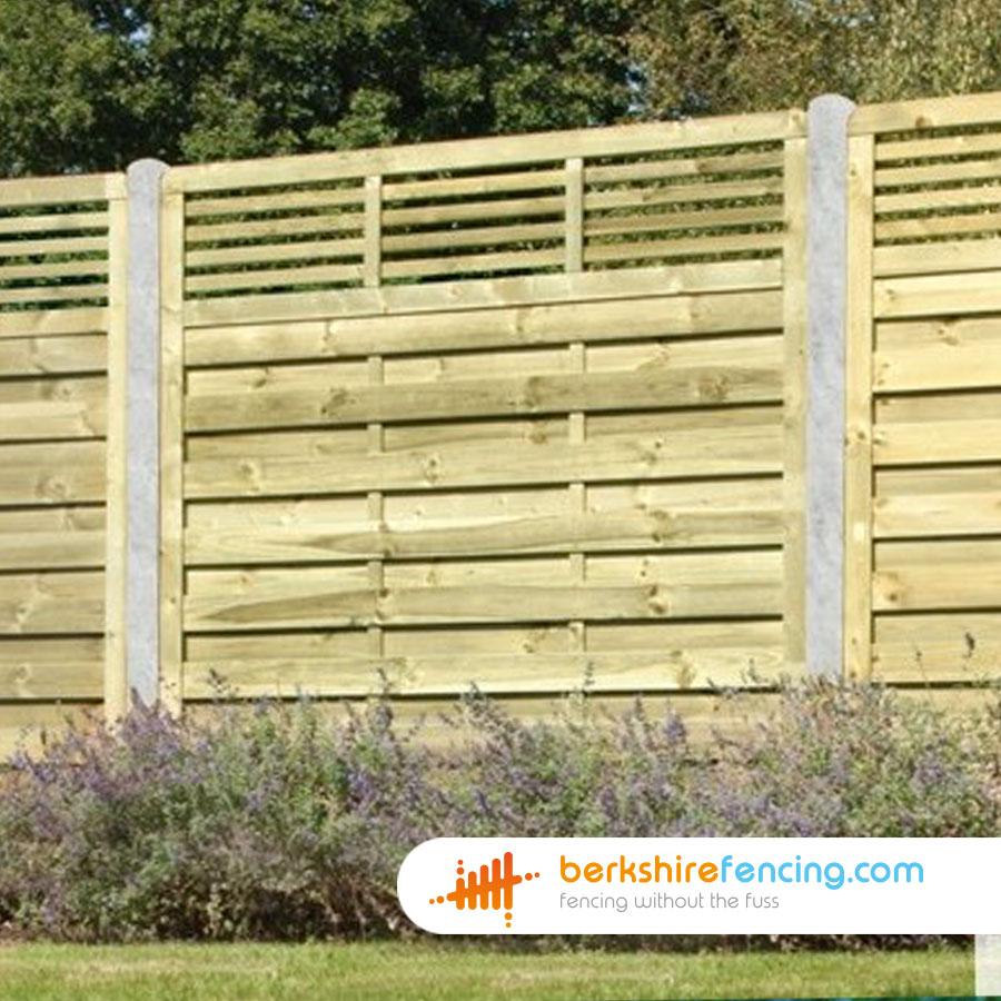 Elite Slatted Top Fence Panels 3ft X 6ft Natural