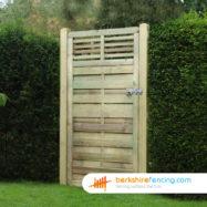 Elite Slatted Top Gates (1) 1800mm x 900mm x 50mm brown