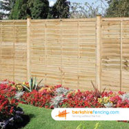 Lap Fence Panel (4) 90cm H x 183cm W brown