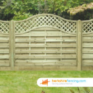Omega Lattice Top Fence Panel (4) 90cm H x 180cm W brown