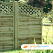 Omega Wing Fence Panel (4) 75cm H x 180cm W brown