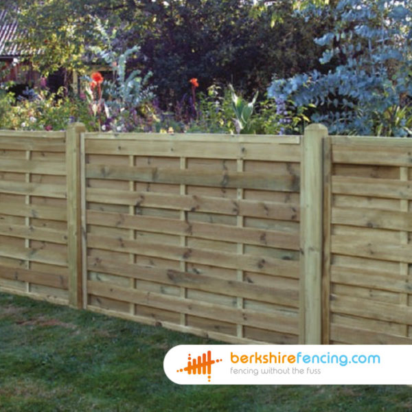Pressure Treated Wood Square Horizontal Fence Panels 3ft x 6ft