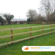 Square Post and Rail Fence Post