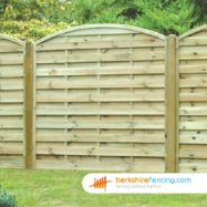 Arched Horizontal Fence Panel (3) 90cm H x 180cm W Brown