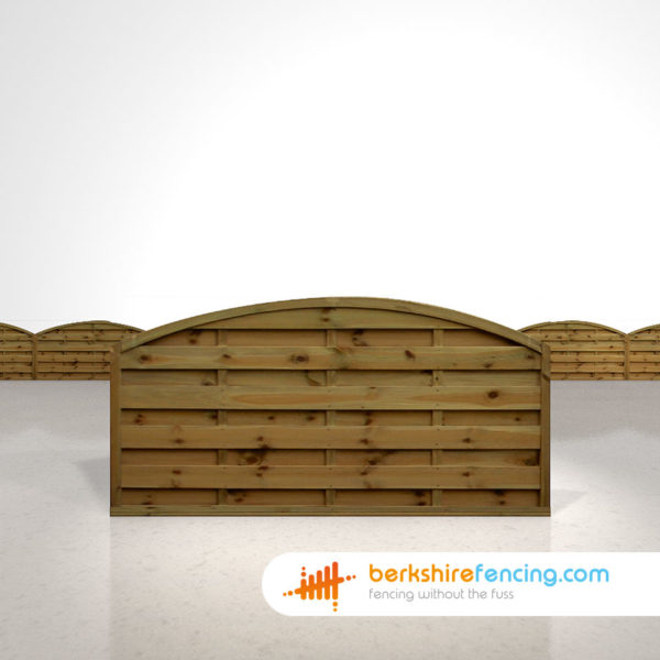 Arched Horizontal Fence Panels 3ft x 6ft Brown