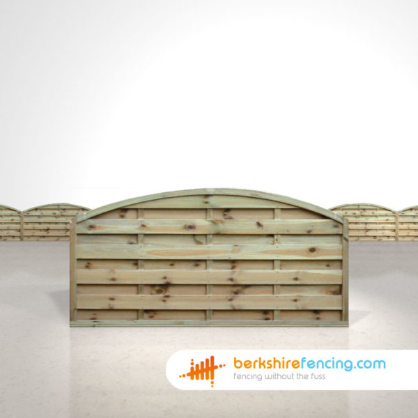 Designer Arched Horizontal Fence Panels 3ft x 6ft Natural