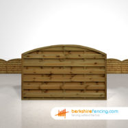 Garden Arched Horizontal Fence Panels 4ft x 6ft Brown