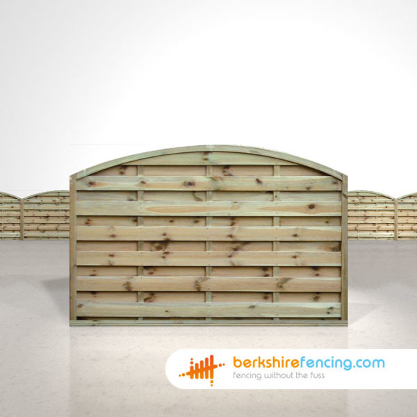 Arched Horizontal Fence Panels 4ft x 6ft Natural