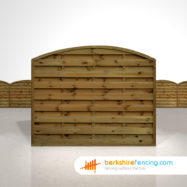 Exclusive Arched Horizontal Fence Panels 5ft x 6ft Brown