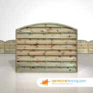 Arched Horizontal Fence Panels 5ft x 6ft Natural
