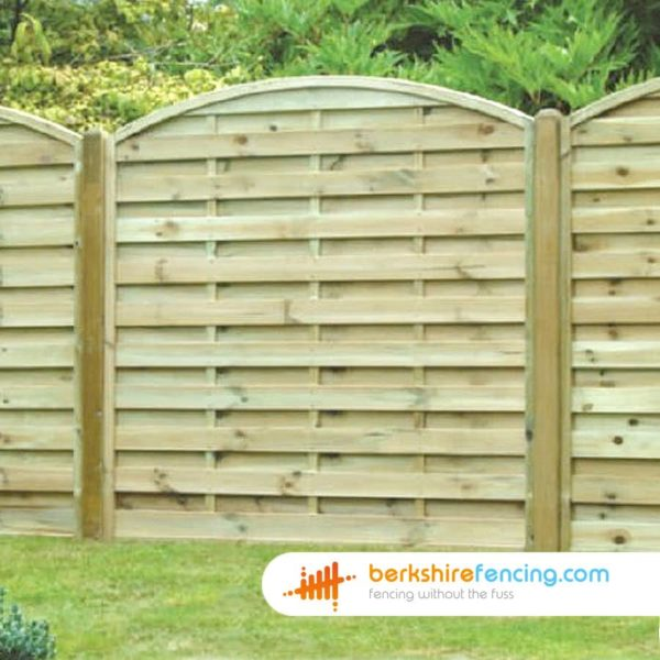 Arched Horizontal Fence Panels 3ft x 6ft