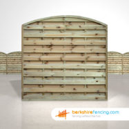 Exclusive Arched Horizontal Fence Panels 6ft x 6ft Natural