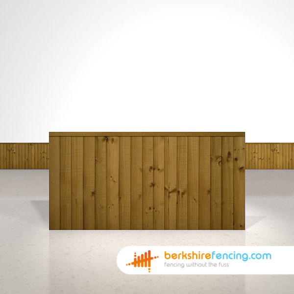 Close Board Fence Panels 3ft x 6ft Brown