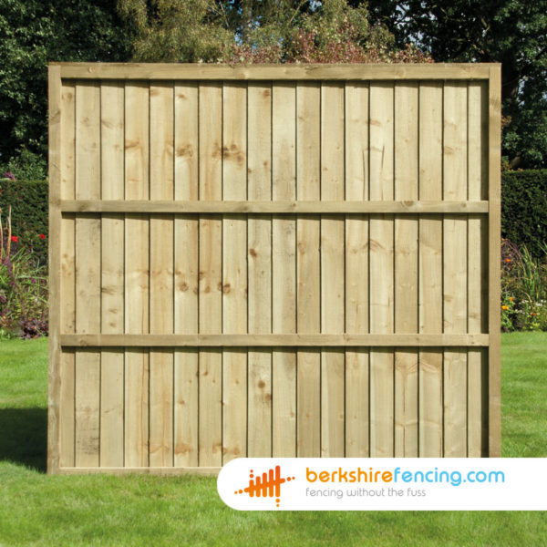 UC4 treated Timber Close Board Fence Panels 3ft x 6ft - Brown