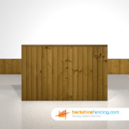 Garden Close Board Fence Panels 4ft x 6ft Brown