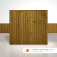 Exclusive Close Board Fence Panels 5.5ft x 6ft Brown