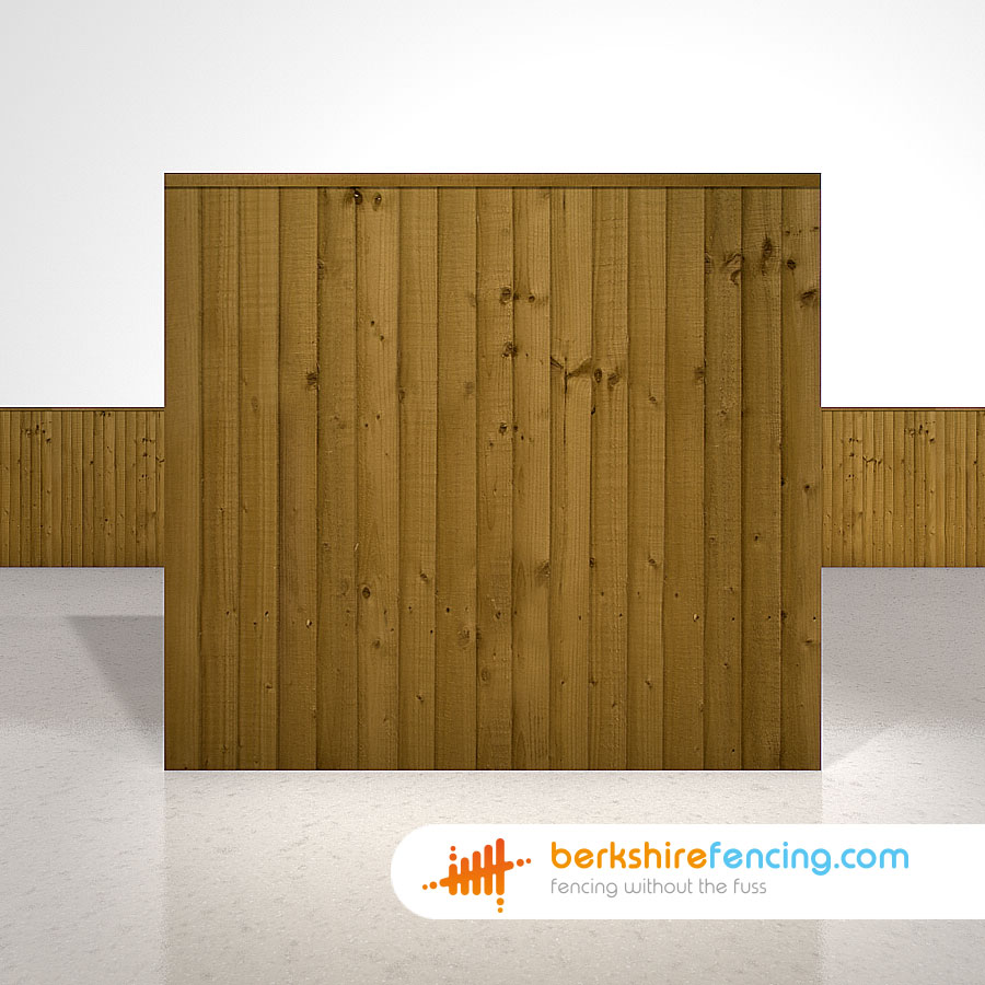 Close Board Fence Panels 5.5ft x 6ft Brown - Berkshire Fencing
