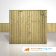 Garden Close Board Fence Panels 5.5ft x 6ft Natural