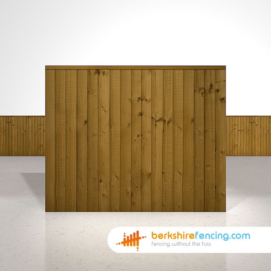 Close Board Fence Panels 5ft x 6ft Brown - Berkshire Fencing