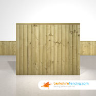 Garden Close Board Fence Panels 5ft x 6ft Natural