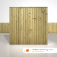 Garden Close Board Fence Panels 6ft x 6ft Natural