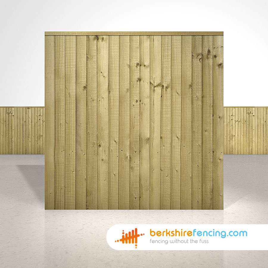 Close Board Fence Panels 6ft X 6ft Natural Berkshire Fencing