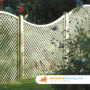 Solid Timber Concave Diamond Trellis Fence Panels 3ft x 6ft - brown