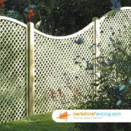 Concave Diamond Trellis Fence Panel (3) 90cm H x 180cm W brown