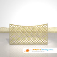 Garden Concave Diamond Trellis Fence Panels 3ft x 6ft natural