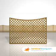 Concave Diamond Trellis Fence Panels 4ft x 6ft brown