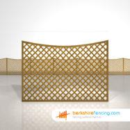 Concave Diamond Trellis Fence Panels 4ft x 6ft brown