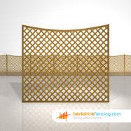 Concave Diamond Trellis Fence Panels 5ft x 6ft brown