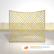 Designer Concave Diamond Trellis Fence Panels 5ft x 6ft natural