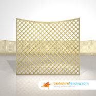 Designer Concave Diamond Trellis Fence Panels 5ft x 6ft natural