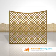 Designer Concave Diamond Trellis Fence Panels 6ft x 6ft brown