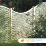 FSC Wood Concave Diamond Trellis Fence Panels 4ft x 6ft
