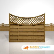 Exclusive Concave Lattice Top Fence Panels 5ft x 6ft brown