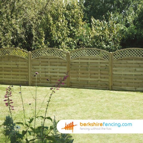 Solidly built Convex Arched Lattice Top Fence Panels 6ft x 6ft