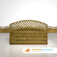 Exclusive Convex Arched Lattice Top Fence Panels 4ft x 6ft brown