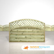 Exclusive Convex Arched Lattice Top Fence Panels 4ft x 6ft natural