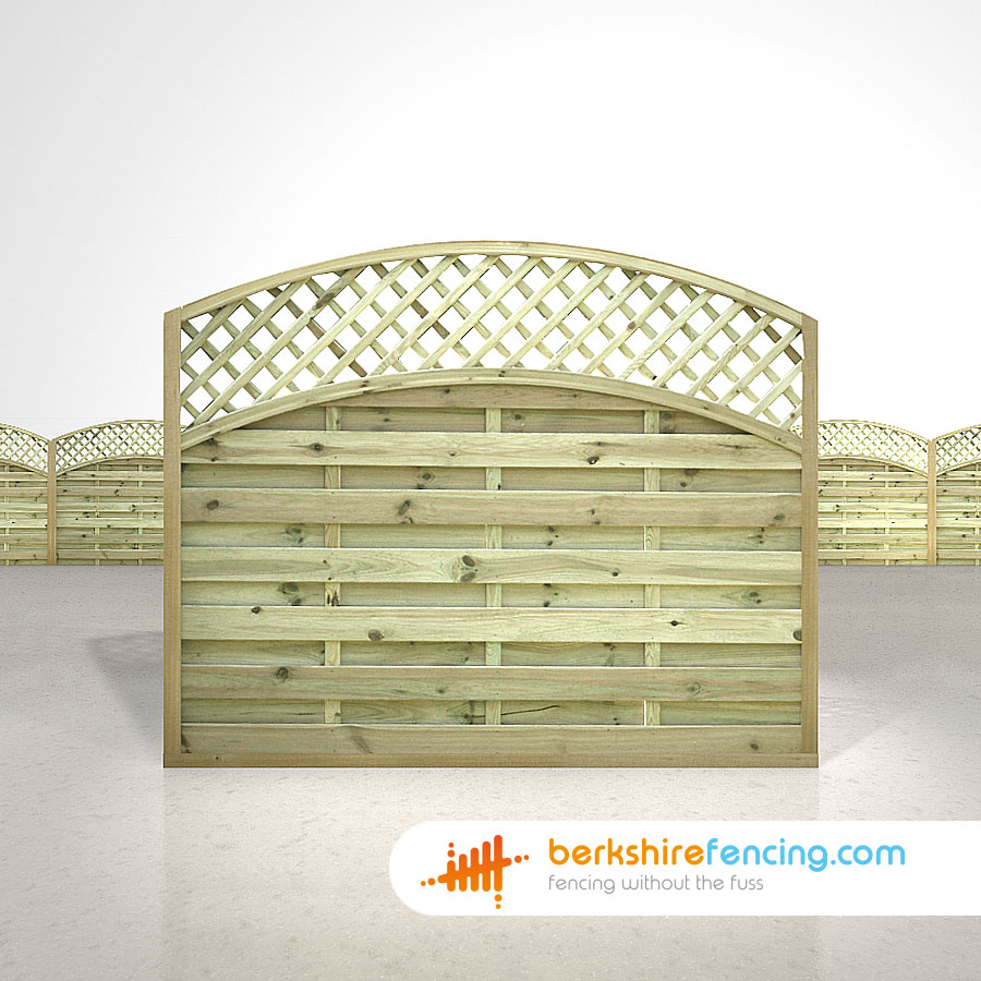 Convex arched lattice top fence panels 5ft x 6ft natural designer convex arched lattice top fence panels 5ft x 6ft natural baanklon Image collections