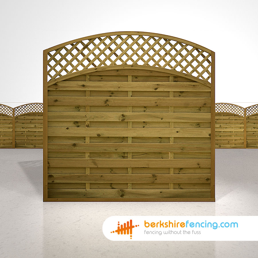 Convex arched lattice top fence panels 6ft x 6ft brown berkshire exclusive convex arched lattice top fence panels 6ft x 6ft brown baanklon Image collections