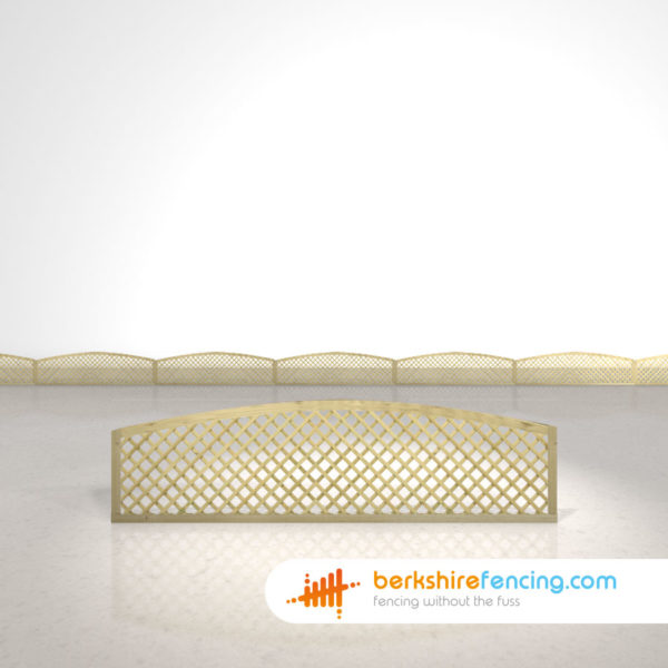 Convex Diamond Privacy Trellis Fence Panels 1.5ft x 6ft natural