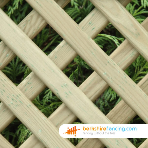 75cm x 180cm Convex Diamond Privacy Trellis Fence Panel Constructed in Pressure Treated Wood for a customer in Ascot