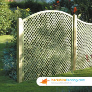 Convex Diamond Trellis Fence Panel (3) 90cm H x 180cm W brown